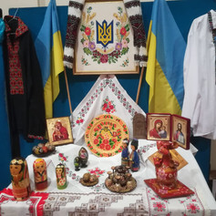 Traditional Ukrainian items on display @ The Ukrainian Centre (CCF 2019)