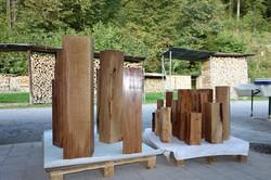 Holzquader, verschiedene Baumarten