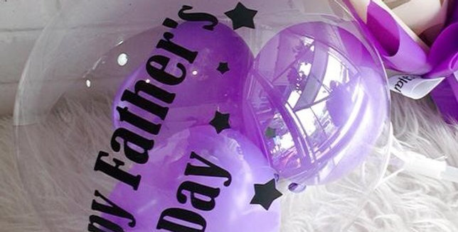 "12"" clear balloon with custom text"