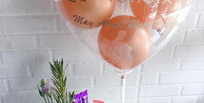 Mix chocolate flower balloon 07