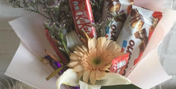 Mix chocolate with daisy 1