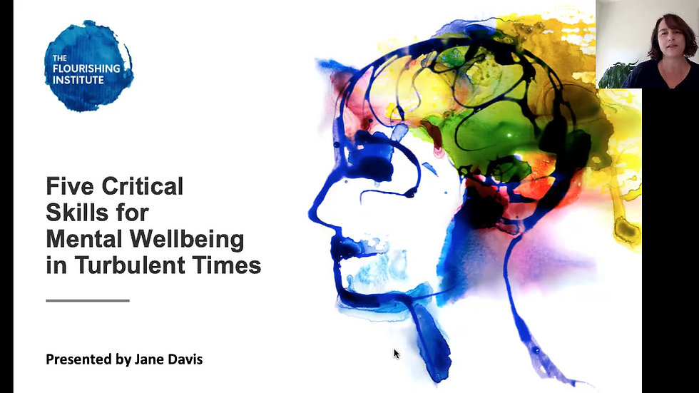 Five Critical Skills for Mental Wellbeing in Turbulent Times