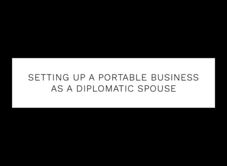 Setting up a portable business as a diplomatic spouse