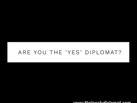 Are you the 'yes' diplomat?