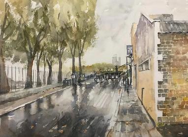 Wet Streets, London