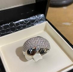jonc or gris palladié pavage diamants
