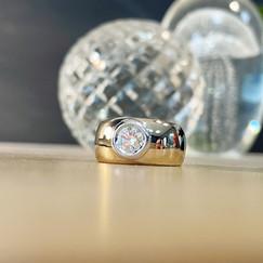 jonc diamant sur or jaune