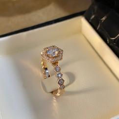 Bague diamants sur or jaune