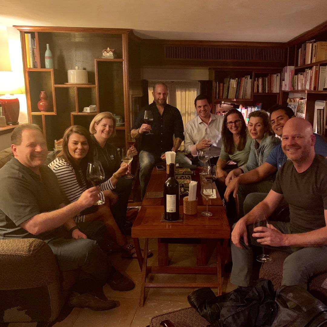 EO'ers in a Portuguese wine bar in China