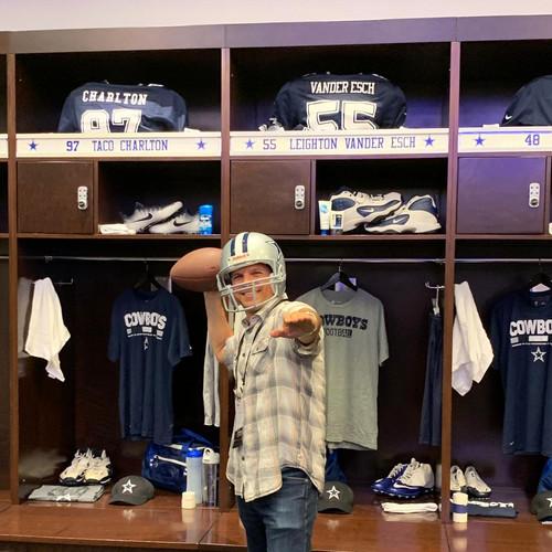 In the Cowboys' locker room