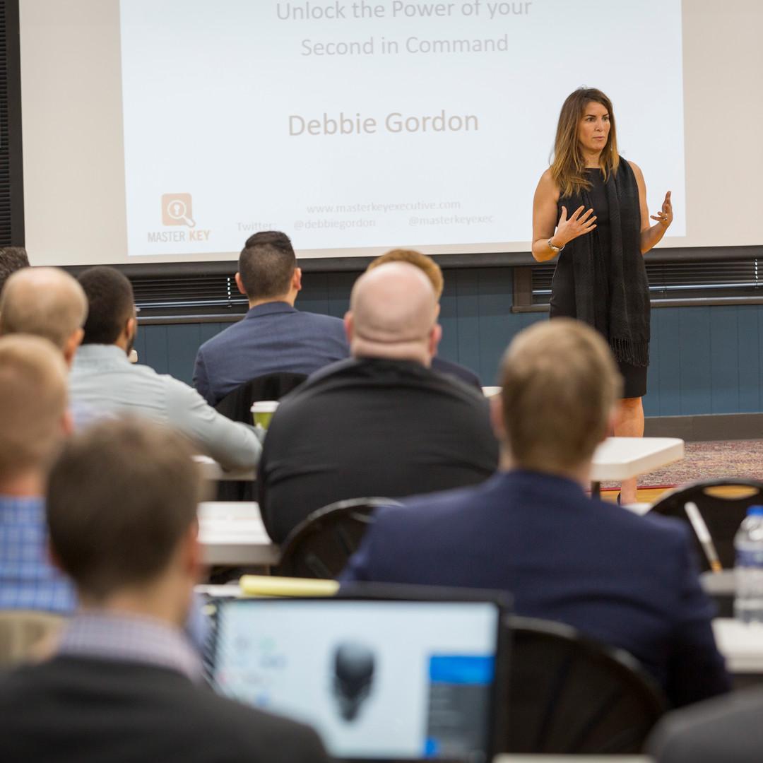 Debbie Gordon leads a workshop