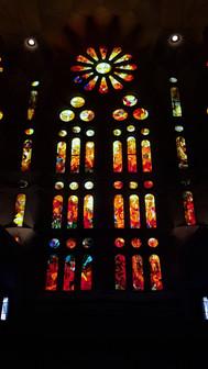 stained glass at la sagrada familia