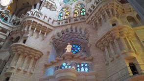 balconies inside la sagrada familia