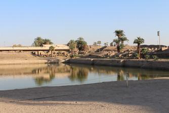 the sacred lake of precinct of amun-re