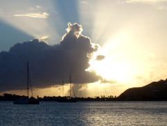 sunset caribbean