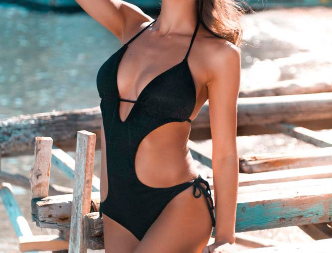 Luxury Black | trikini regolabile