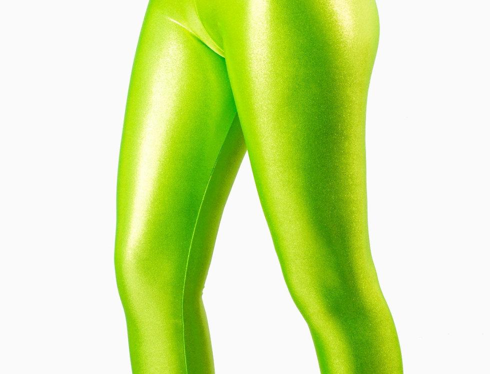 Leggings verde laminato