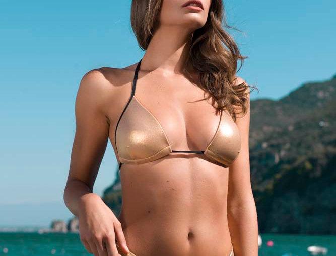 Gold | bikini con brasiliana a V