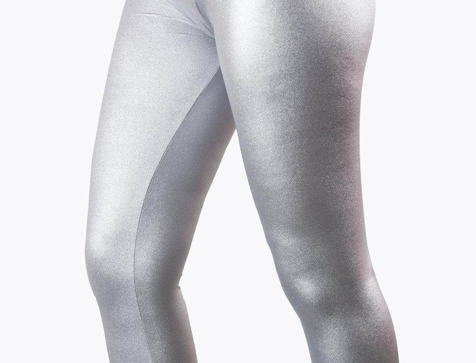 Leggings grigio laminato