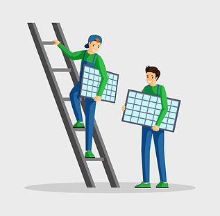 trabajadores-instalando-paneles-solares-