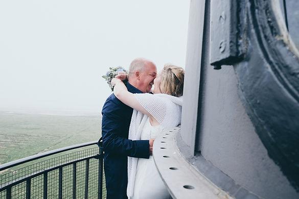Hochzeitsfotograf Hochzeitsfoto Hochzeitsreportage am Leuchtturm Westerheversand Sankt-Peter-Ording Fotograf