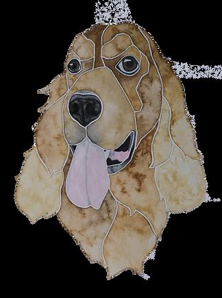 Ein Hundeportrait nach Fotovorlage von einem Cocker Spaniel