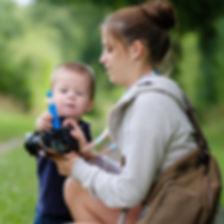 Making-Of Sarah Lüders mit Kleinkind von Lichtfühler Fotografie Kinderfotos