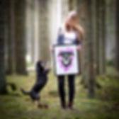 Tierportrait, Pet Portrait, Hundeportrait Acrylbild Hundebild, Kundenfoto, Mischling