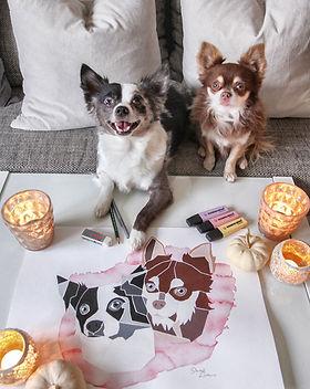 Tierportrait Pet Portrait Hundeportrait Acrylbild Hundebild, Kundenfoto, Chihuahua