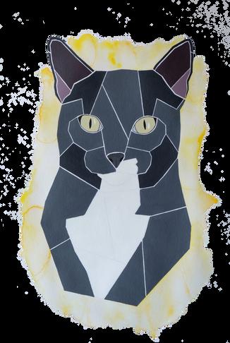 Handgemaltes Katzenportrait