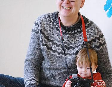 Making-Of Carsten Plückhahn mit Kleinkind von Lichtfühler Fotografie Kinderfotos