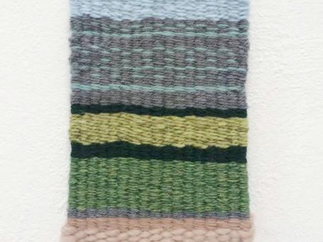 "Approx 8 x 5"" Each Hand Woven Reclaimed Yarn"