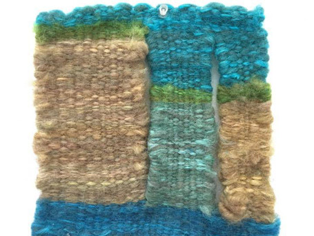 """Roving Research Approx. 8x8"""" Hand Woven Dyed Roving"""