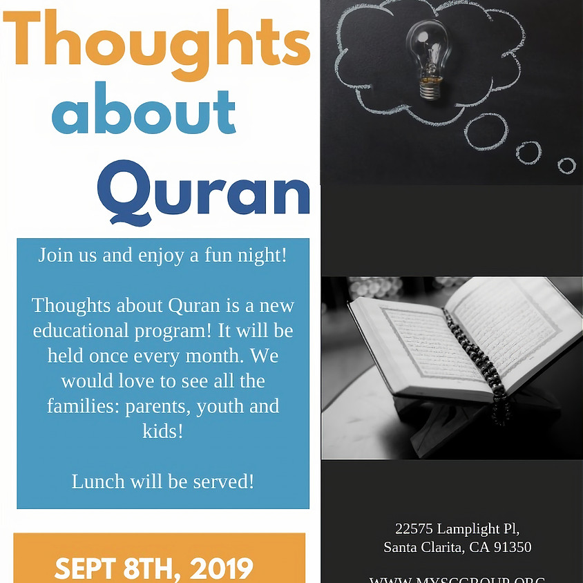 Thoughts about Quran