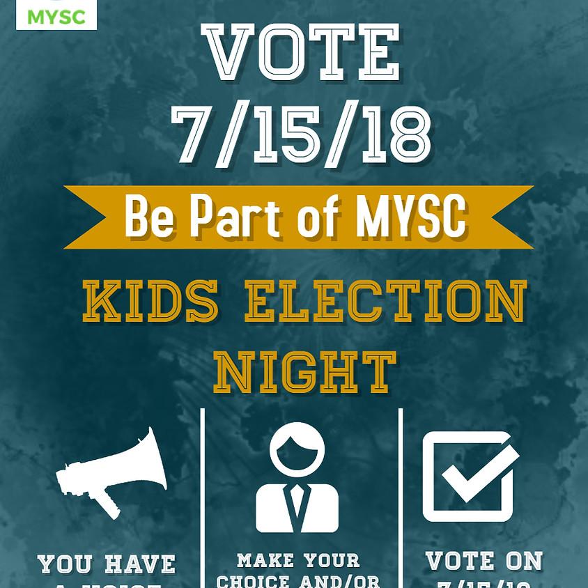 MYSC Kids Club Election Night