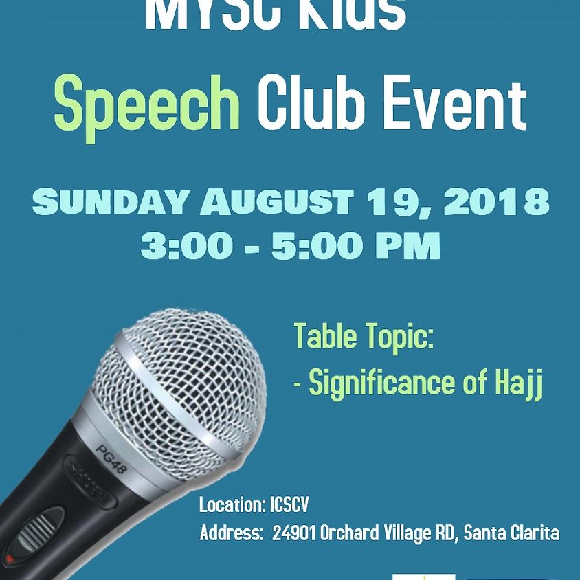 MYSC Kids Speech Club Event