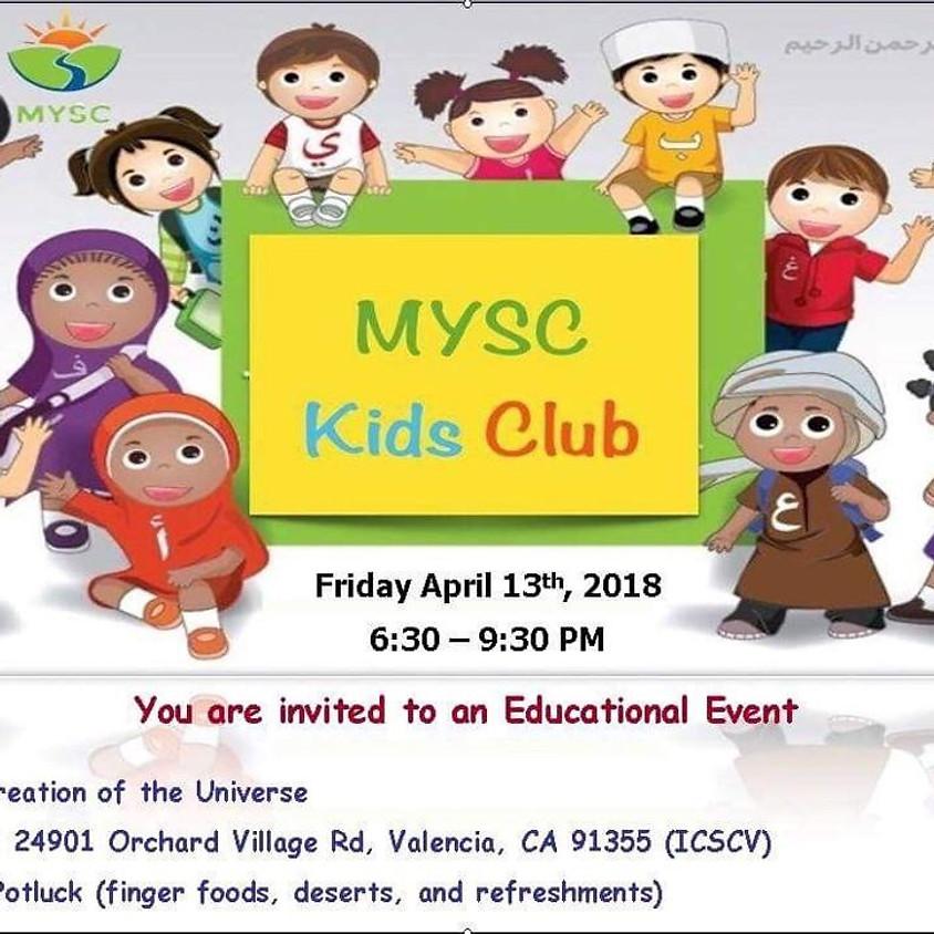 MYSC Kids' Club - Educational Event