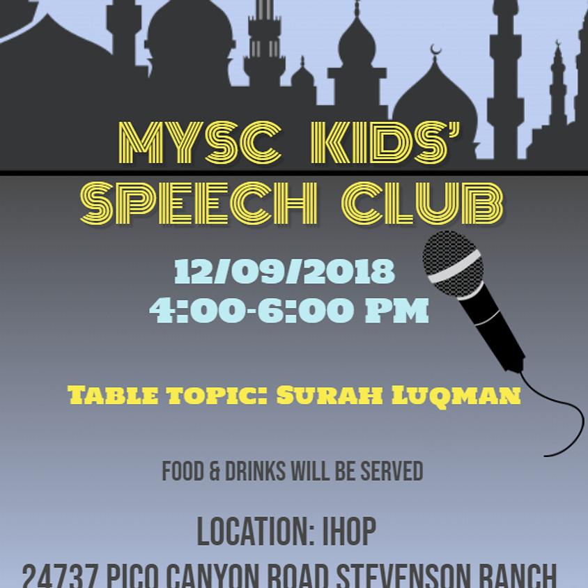 MYSC Kids' Speech Club