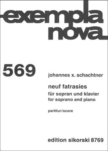 Johannes X. Schachtner: Neuf fatrasies (2011/2012)