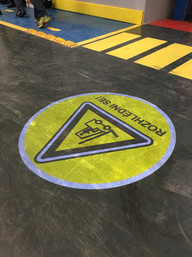 yellow safety pictogram