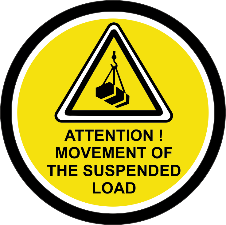 Attention! Movement of the suspended load.