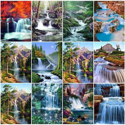 DIY Diamond Painting Waterfall Scenic Full Square