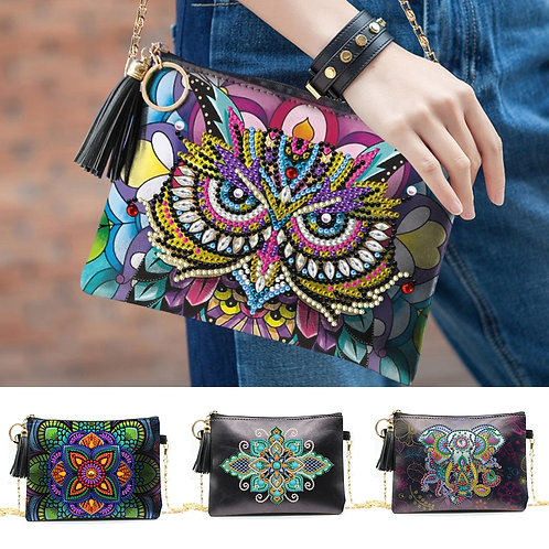 DIY Special Shaped Bag Leather Chain Shoulder Bags Diamond painting