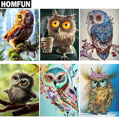 """DIY Diamond Painting """"Animal Owl Series""""  Full Square/Round Drill"""