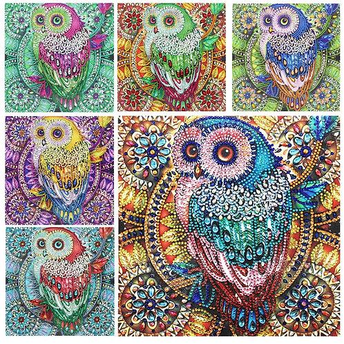 DIY Diamond painting Owl