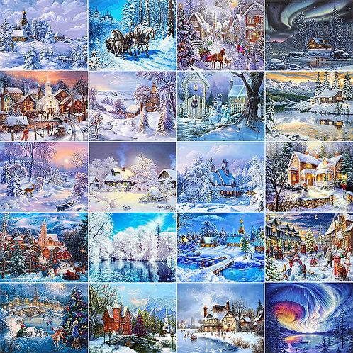 Diamond Painting Winte Snow Scenery