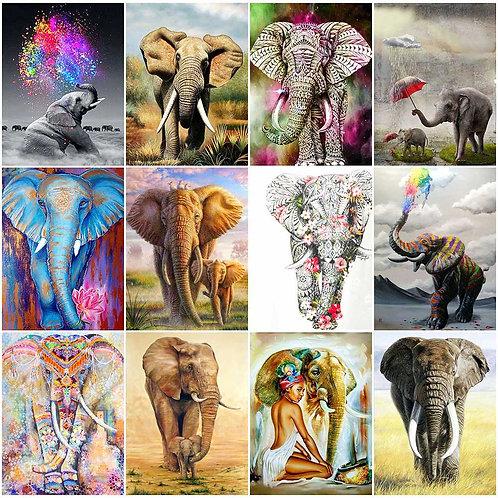 Diamond Painting Elephant Full Drill