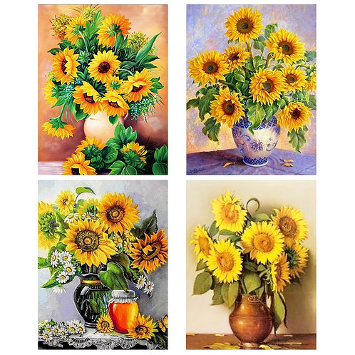 DIY Diamond Painting Full Square Sunflowers