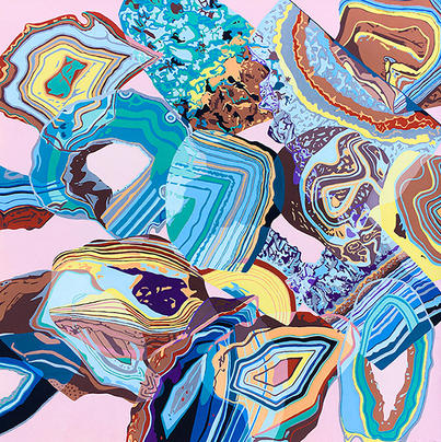 Overlapping Geodes Painting