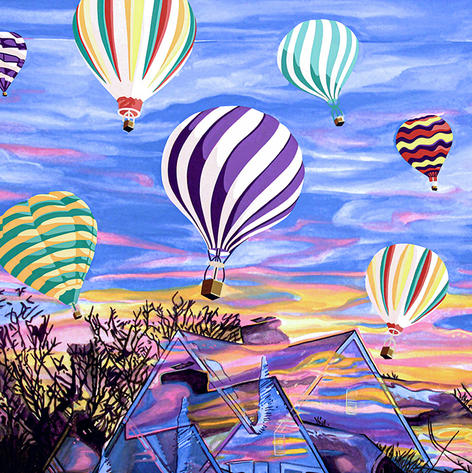 Air Balloon Adventure Painting